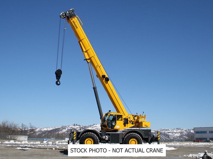 2019 Grove GRT880 - 80 Ton Rough Terrain Crane